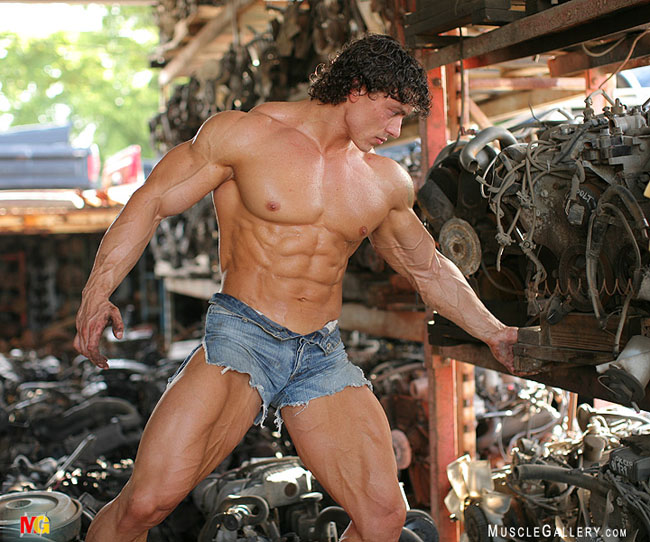 Big buff and handsome bodybuilder