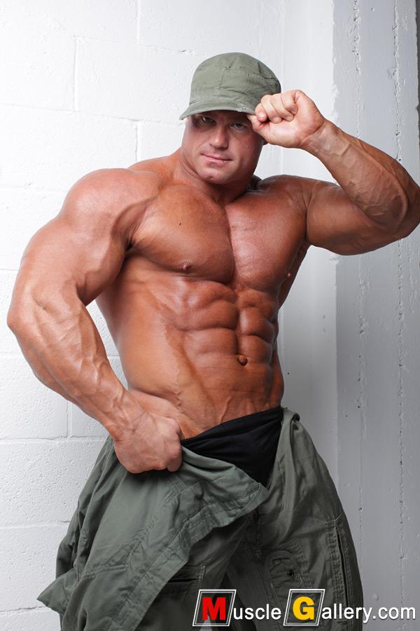 Huge bodybuilder David Riley