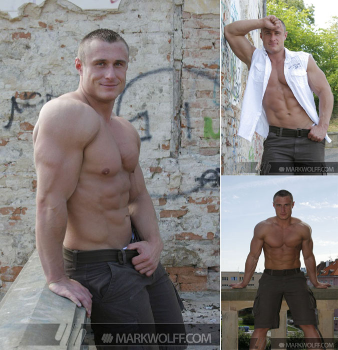 Lukas Havel's muscled body