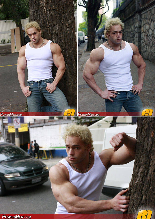 Muscle man Ricky Wollensky in jeans