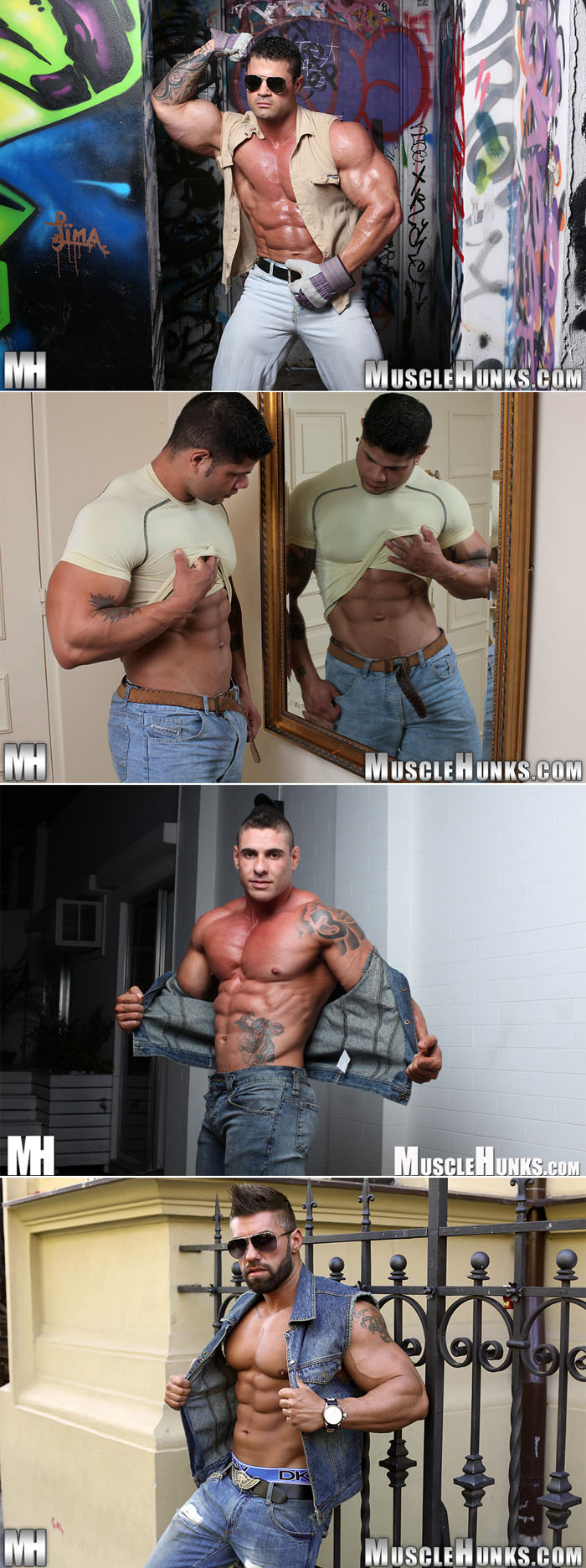 Kurt Beckmann - muscle hunk in tight blue jeans