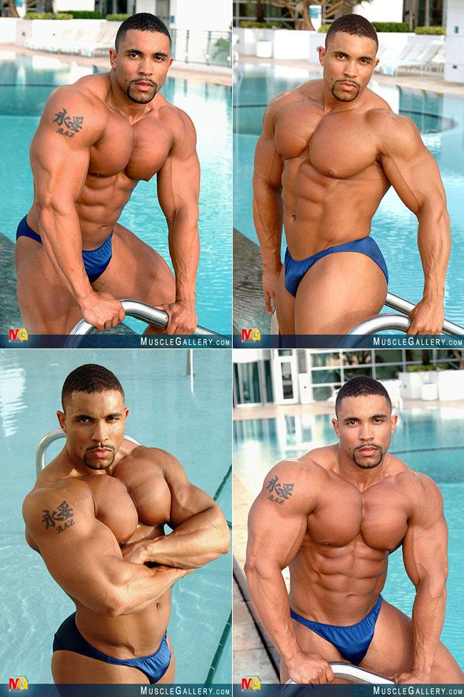 Big black muscle hunk