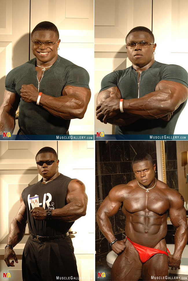 Black bodybuilder Sean Jones