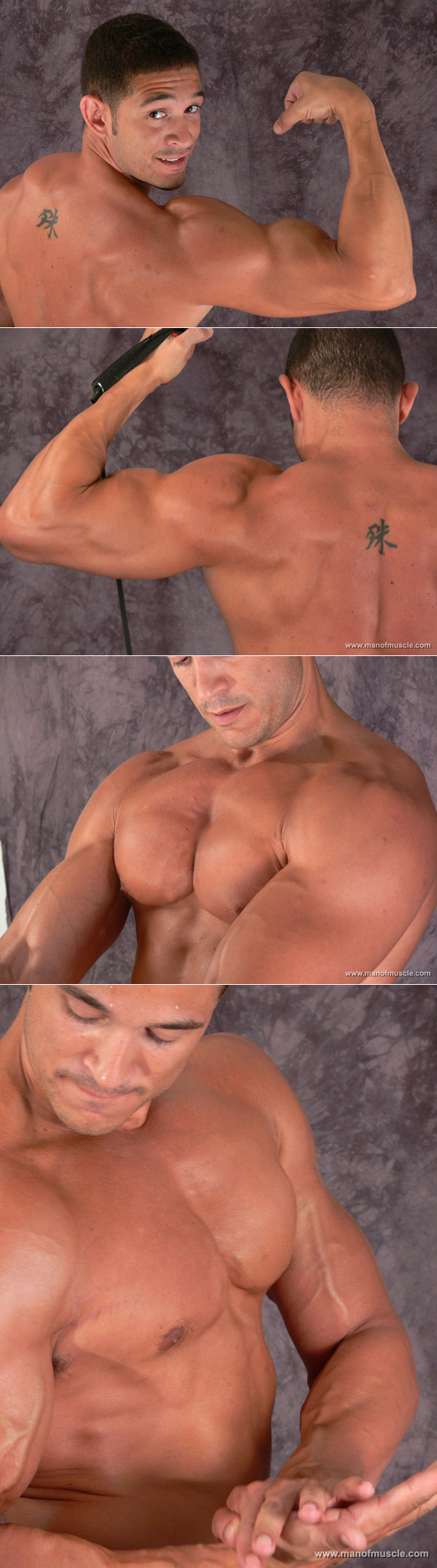 Amateur Latin bodybuilder with great arms