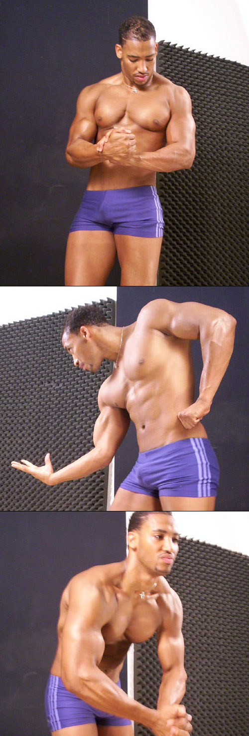 Handsome male muscle model
