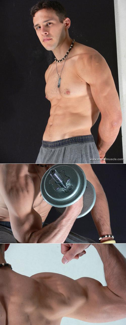 Lean and muscular amateur bodybuilder