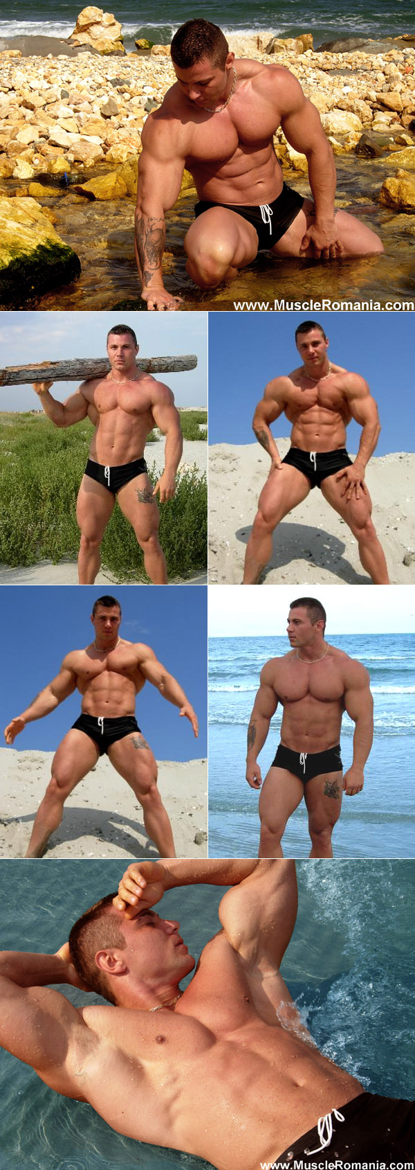 Muscle man at the beach