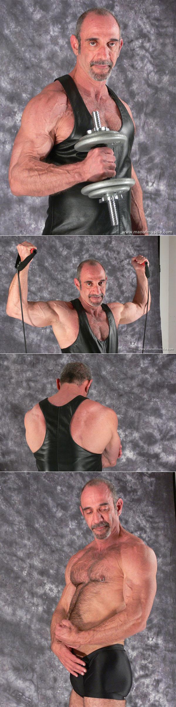 Older bodybuilder and pornstar Anthony DeAngelo