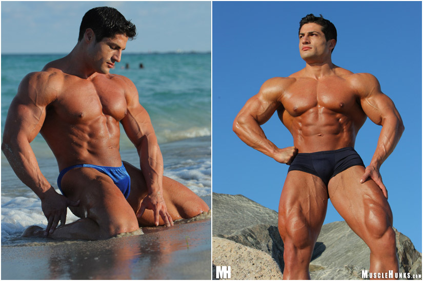 Bodybuilder Amerigo Jackson outdoors